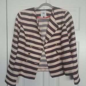 CAbi Red, White and Blue Jacket with Gold Buttons